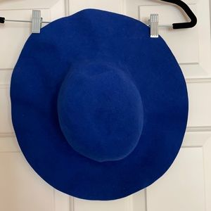 Blue American Apparel Wide Brim floppy Hat